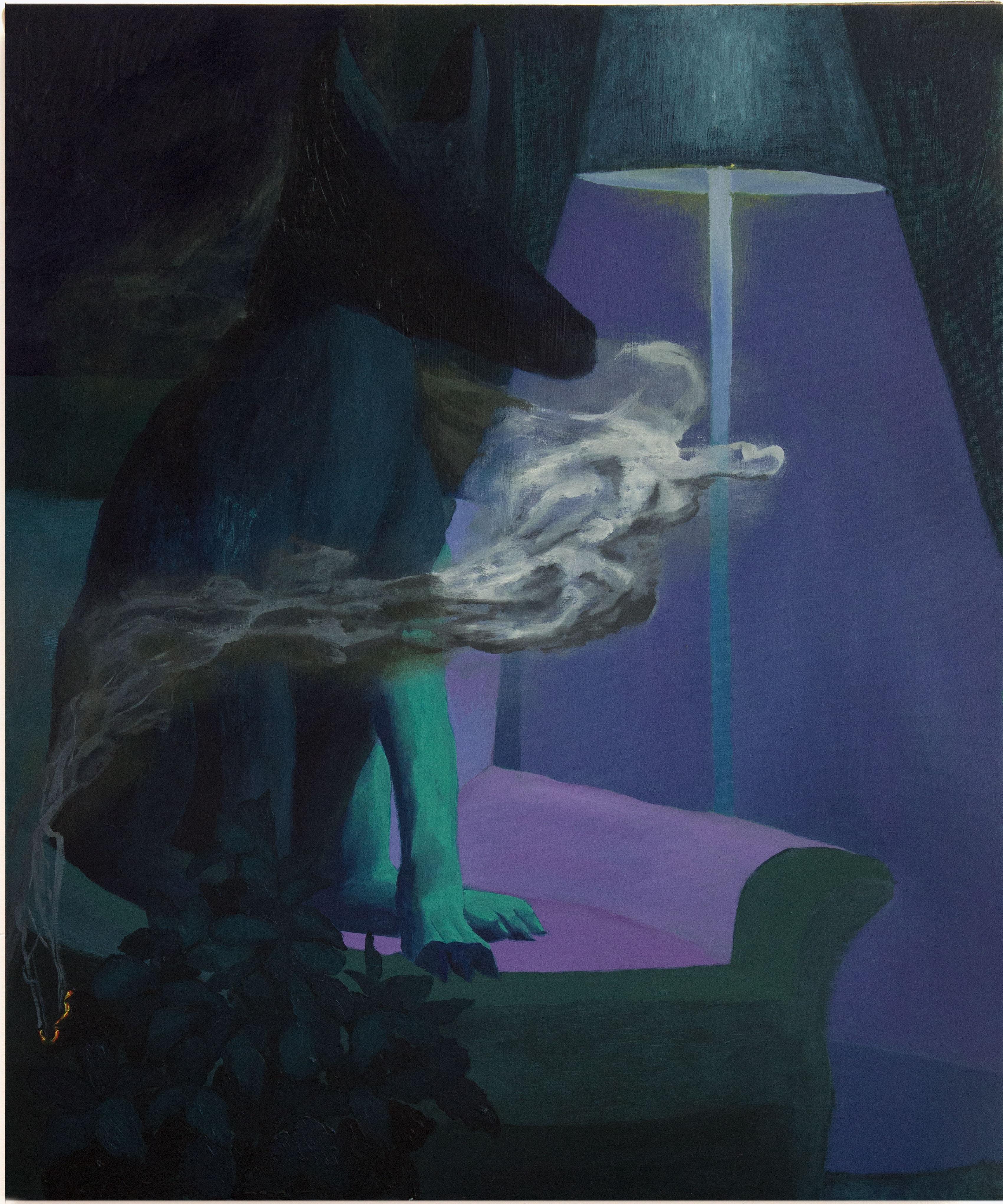 Alessandro Fogo - Incenso, 80 x 100 cm, Olio su tela, 2019